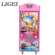 Happy Dolphin 1G Electric coin operated mini toy claw crane vending machines for sale