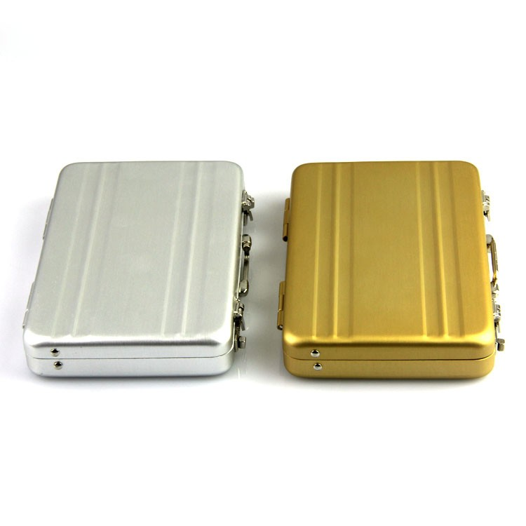 New Metal Aluminum Briefcase Suitcase Business Bank Card Name Card Case Holder