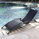 Rattan outdoor foldable chaise lounge chair beach for pool