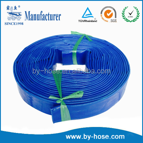 factory supply high quality 1 inch <strong>pvc</strong> lay flat discharge hose pipe