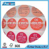 Custom eco-friendly nail polish bottle adhesive label stickers