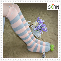 Wholesale Japanese Lovely style Pink color Cute kitty top style Fashion Women trend knee high socks,High Quality Socks supplier