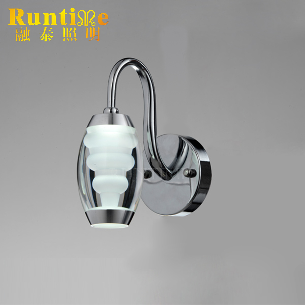 European Vivid Designed High Quality LED Wall with Stainless Base Lamp Model 1827-1