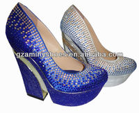 Crystals wedge fashion shoes women 2013
