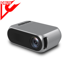 YG320 Portable LCD Projector 400-600 LM 1Support USB/SD/AV/HD 640x48 Input for HD Video Home Theater Cinema/Game/TV Show/Camping