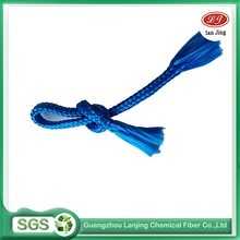 Hot selling 8 mm blue color pp weaving rope packing rope