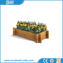 aganist UV wood plastic compound flower box for garden and street