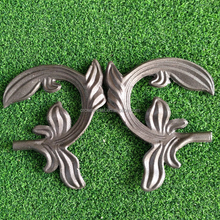 Custom wrought iron leaves as fence ornaments cast steel accessories