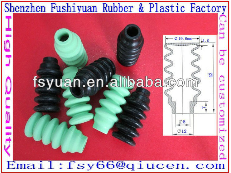 Medical scale high temperature resistant silicone rubber bellows flexible rubber bellows