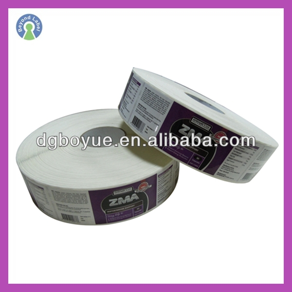 Wholesales Customized Waterproof Vinyl labels Pharmaceutical Bottle rolling sticker private