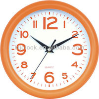 Crystal Clock Trophies Orange Frame And Numbers