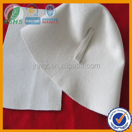 Russia hot sale pure white sauna felts in 2mm 0.30g/cm3 wool felts