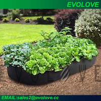 Square vegetable garden bag raising bed for planting on your roof