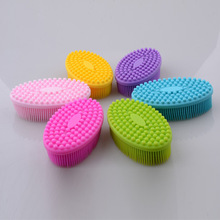 FDA Food Grade Easy Wash Heat Resistant Soft Silicone baby boby Bath Shower Brush