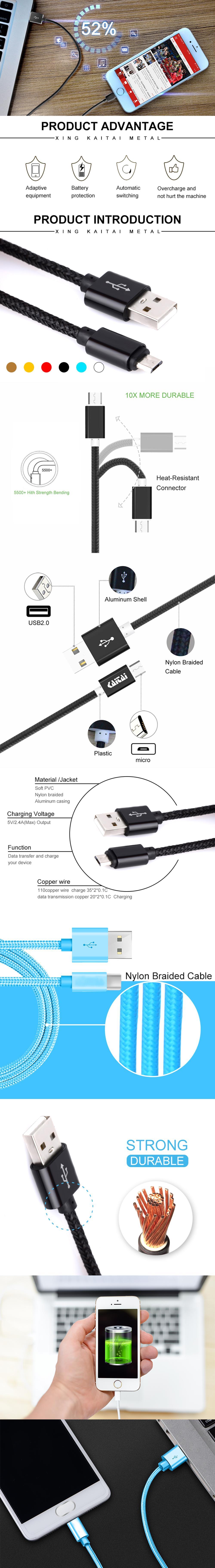 Avril nouveau Double objectif USB câble pour iPhone et Samsung Téléphones Recharge Universelle Câble de Données