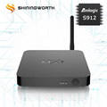 Hot selling ODM/OEM 4K Dual band wifi Octa Core Amlogic s912 tv box
