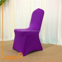 Spandex cheap clear plastic chair cover and chair sash