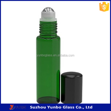 10ml Green Color Glass Roll on Bottle with and Stainless Steel roller