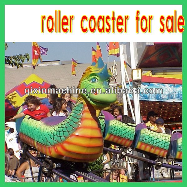 Hot park 20seats amusement dragon track roller coaster for sale