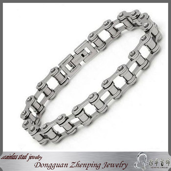 Large men's bracelet stainless steel motorcycle chain bracelet