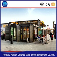 2016 pop hot sale shipping container restaurant/container coffee ,Booth house,House,Hotel,Carport,Toilet,Shop