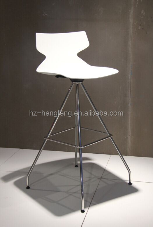 Unique design colorful modern stainless steel swivel bar stool high chairs