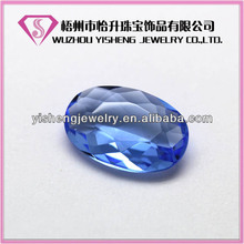 Wholesale Factory Price Fancy Oval Factted Glass Stones Gemstone For jewelry