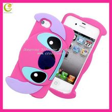 2012 hole shape cute crocodile doll case cover with soft rubber accessories for iphone,hot selling case for iphone5