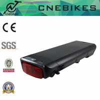electric bicycle rear rack li-polymer battery