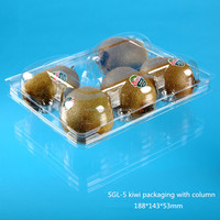 PET Plastic clamshell fruit packing box for 5pcs Kiwi