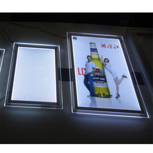 Advertising clear edge led hanging menu board display sign