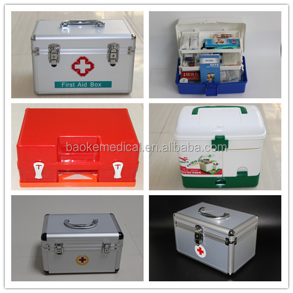 New Plastic emergency medical survival Boxs with Medical Supplier for Camping, Travel, Office, Home,hotel,shop