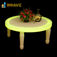 Outdoor Garden Furniture White Plastic Illuminated