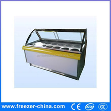 self defrost ice cream show case display for sale with led light for ice cream chain or cake shop or Coffee Bar
