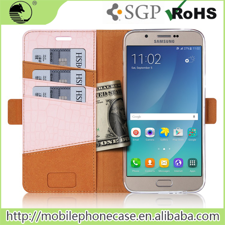 China Supplier Hot Selling Wallet Flip Cover For Samsung , mobile phone leather case