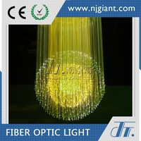 Luxury banquet hall optic fiber lighting pendant applicaiton
