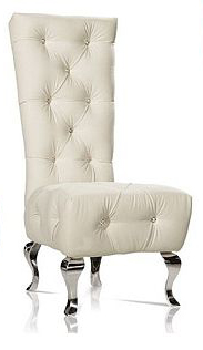 tuffed upholsteryed silver throne chair TC1015