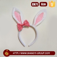 2016 Hot selling hair accessories rabbit long pink ear children headband