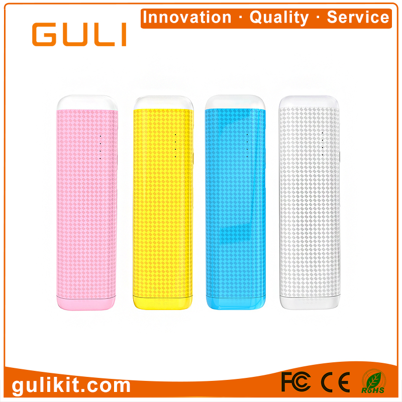 GULI Portable Usb Battery Power Bank Power Supply 6000mah Mobile Phone Charger OEM ODM