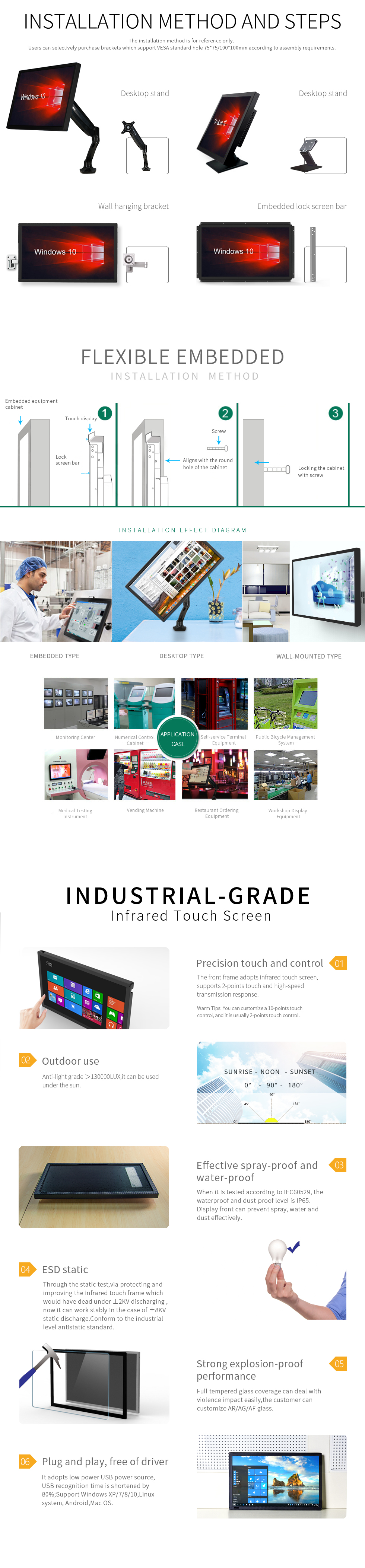 [TMDtouch]China Wholesale Good Quality 21.5 inch infrared Touch Screen Open Frame LCD Monitor