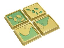 montessori equipment -Geography 2nd Set of Land and Water Form Trays montessori materials toy