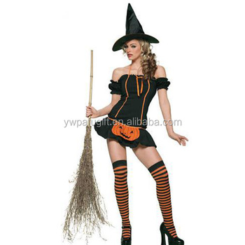 Intimate Lingerie Sexy Pumpkin Witch Halloween Costume