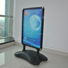 Water base poster banner advertising pavement sign poster stand,A1 black water base snap frame
