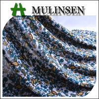 Mulinsen Textile Cute Style Knitting Printed FDY Poly and Spandex Mix Fabric