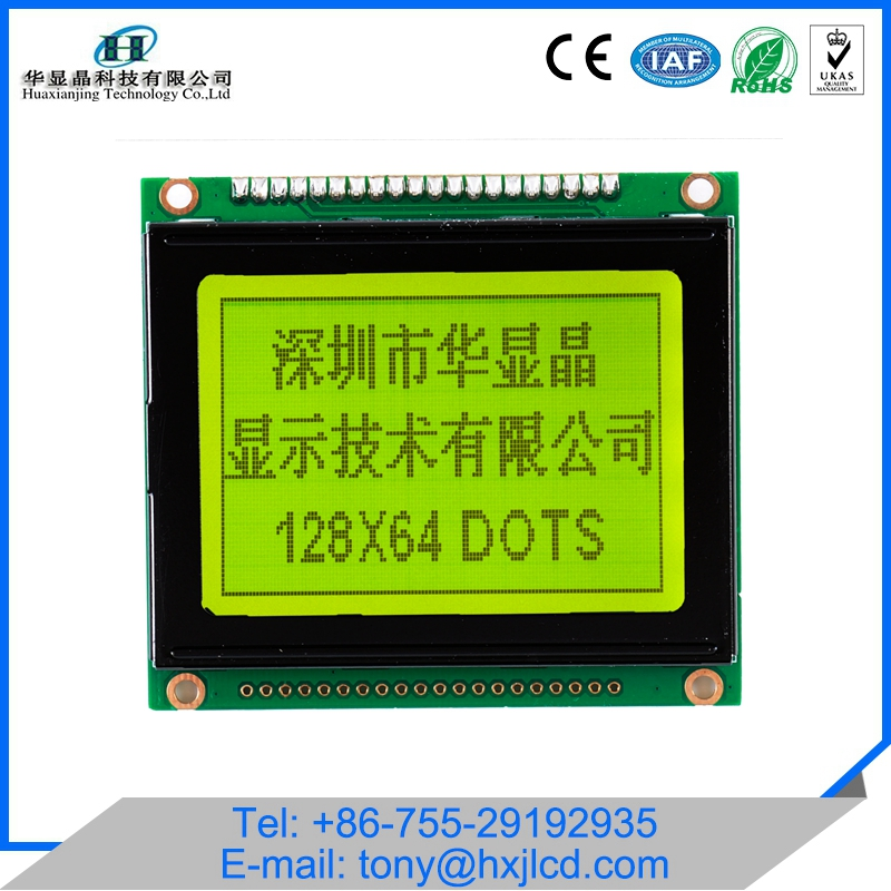 OEM Available 20 Pin 12864 Graphic Lcd Display