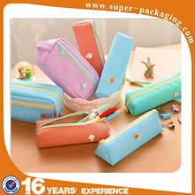 2015 clear custom wholesale pencil case for teenagers with zipper