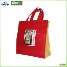 Foldable plastic non woven shopping carry bag for export