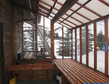 prefab Hobby glass house/sun room/winter garden
