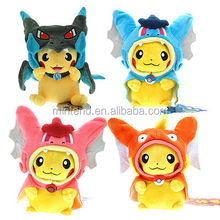 Wholesale 20-25cm pikachu cosplay soft toys pokemon <strong>plush</strong>