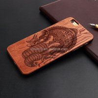 Free Sample natural wood bamboo phone case for iPhone 6s plus
